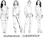 vector drawings on the theme of ... | Shutterstock .eps vector #1182094519