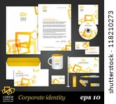 modern white corporate identity ... | Shutterstock .eps vector #118210273