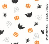 seamless halloween pattern for... | Shutterstock .eps vector #1182104539