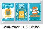 super sale  big sale and...   Shutterstock .eps vector #1182106156