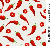 mexican pepper food pattern.... | Shutterstock .eps vector #1182108976