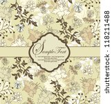floral invitation card | Shutterstock .eps vector #118211488