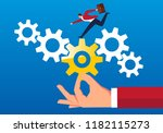 team help and operation | Shutterstock .eps vector #1182115273