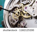 close up of vintage watch... | Shutterstock . vector #1182125200