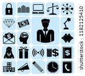 set of 22 business icons or... | Shutterstock .eps vector #1182125410
