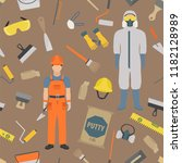profession and occupation set.... | Shutterstock .eps vector #1182128989