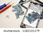 disassembly smartphone and... | Shutterstock . vector #1182131179