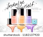 fashion nail lacquer ads with... | Shutterstock .eps vector #1182137920