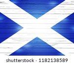 scottish flag above simple... | Shutterstock . vector #1182138589