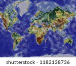 coloured map of the world | Shutterstock . vector #1182138736