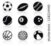 sport balls collection   Shutterstock .eps vector #118214440