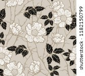 seamless pattern with flowers... | Shutterstock .eps vector #1182150799