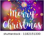merry christmas with bokeh... | Shutterstock .eps vector #1182151330