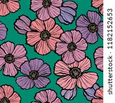 floral seamless pattern.... | Shutterstock .eps vector #1182152653