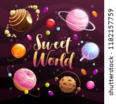sweet world poster. food... | Shutterstock .eps vector #1182157759