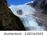 view of franz josef glacier...   Shutterstock . vector #1182162043