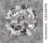 confidential on grey camo... | Shutterstock .eps vector #1182168706