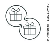 exchange of gifts. vector icon. | Shutterstock .eps vector #1182169450