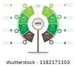 vertical timeline infographics. ... | Shutterstock .eps vector #1182171103