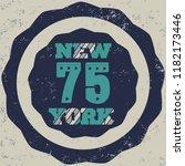 new york brooklyn sport wear...   Shutterstock . vector #1182173446