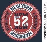 new york brooklyn sport wear...   Shutterstock . vector #1182173449
