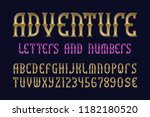 adventure letters and numbers... | Shutterstock .eps vector #1182180520