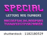 special letters and numbers... | Shutterstock .eps vector #1182180529