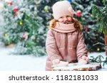 christmas outdoor portrait of...   Shutterstock . vector #1182181033