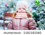 christmas and winter portrait...   Shutterstock . vector #1182181060