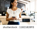 typing message to colleague....   Shutterstock . vector #1182182893