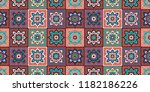 talavera pattern.  indian... | Shutterstock .eps vector #1182186226
