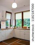 modern white kitchen | Shutterstock . vector #1182187000