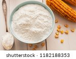 starch and corn cob on the table | Shutterstock . vector #1182188353