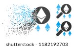 loupe search ethereum icon in... | Shutterstock .eps vector #1182192703