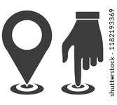 map pointer icon  gps location... | Shutterstock .eps vector #1182193369