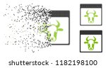cow page icon in dissolved ... | Shutterstock .eps vector #1182198100