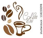 "vector illustration ""a coffee"".   Shutterstock .eps vector #118220098"