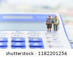 retirement   pension income tax ... | Shutterstock . vector #1182201256