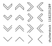 line vector arrows icon set....