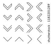 line vector arrows icon set....