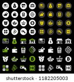 banking icons   vector piggy... | Shutterstock .eps vector #1182205003