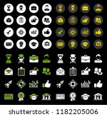 startup new business icons set  ... | Shutterstock .eps vector #1182205006