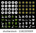 energy and ecology icons ... | Shutterstock .eps vector #1182205009