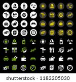 vector travel icons set   hotel ... | Shutterstock .eps vector #1182205030