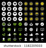 web icons set  communication... | Shutterstock .eps vector #1182205033
