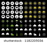 vector weather icons set.... | Shutterstock .eps vector #1182205036
