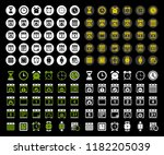 calendar icons set   time  ... | Shutterstock .eps vector #1182205039