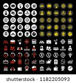 business investment icons set   ... | Shutterstock .eps vector #1182205093