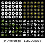 business investment icons set   ... | Shutterstock .eps vector #1182205096