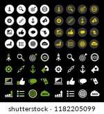 e commerce and shopping icons ... | Shutterstock .eps vector #1182205099
